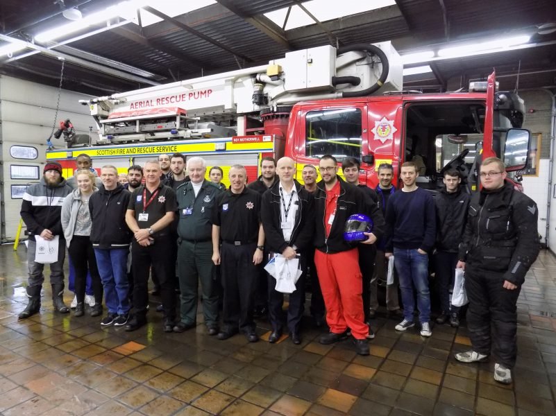Staff and students from New College Lanarkshire attend Biker Down course