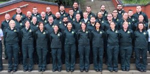 West Midlands Ambulance Service NHSFT Student Paramedics in New Uniform
