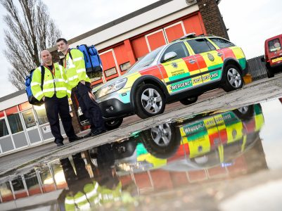 Mark Atherton and Matt Hall are among the firefighters delivering the scheme in South Yorkshire