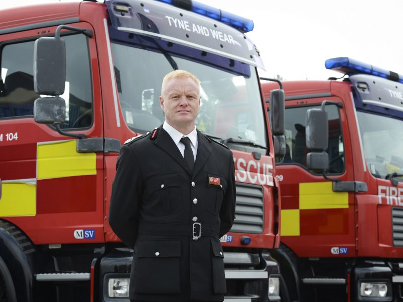 Chris Lowther, newly appointed Chief Fire Officer, Tyne and Wear Fire and Rescue Service.
