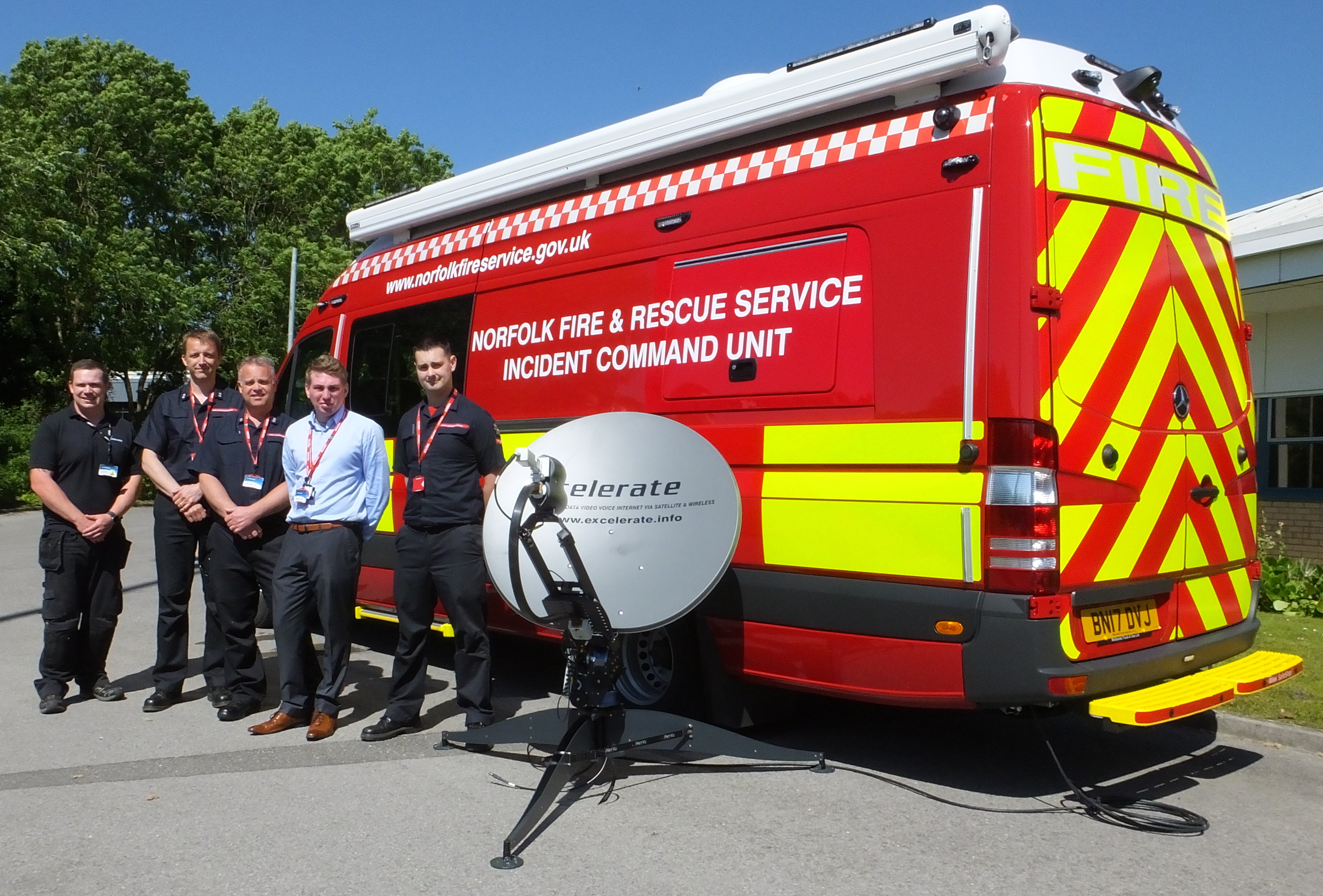 Mobile Command Shelters : Excelerate selected by norfolk frs for advanced mobile