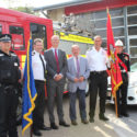 Official opening of shared police and fire station in Suffolk