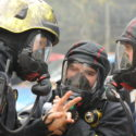 Hampshire's emergency services train in terrorist and fire scenario
