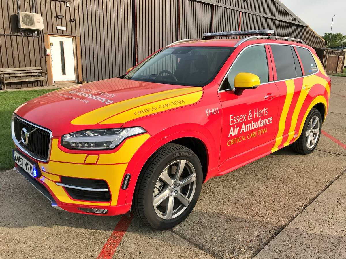 XC90 ground response for Essex and Herts Air Ambulance