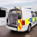 Volkswagen Caddy converted for use as police dog van