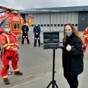 Air ambulance service gets keys to new base
