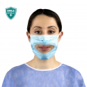 Shield your smile with the new IIR medical grade clear panel facemask